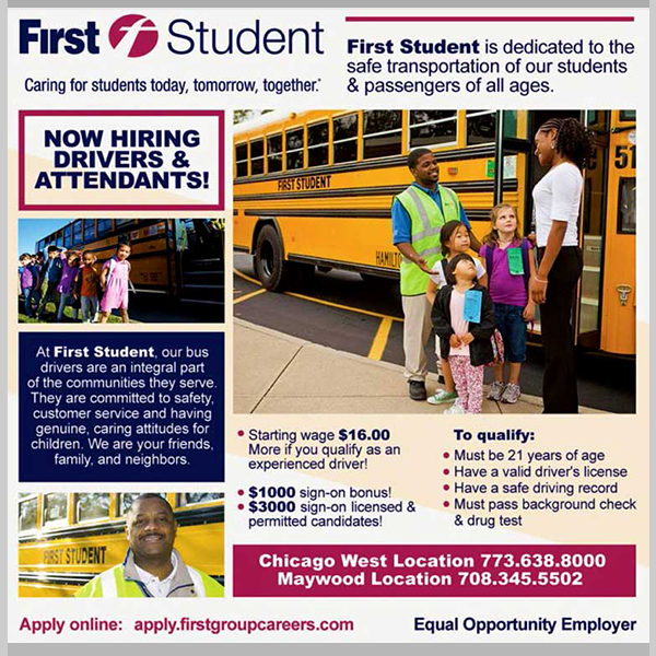 First Student Driver Wanted 2019 Ad