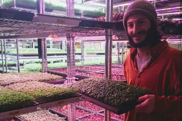 How This Socially Responsible Microgreen Farmer Supports Food Justice